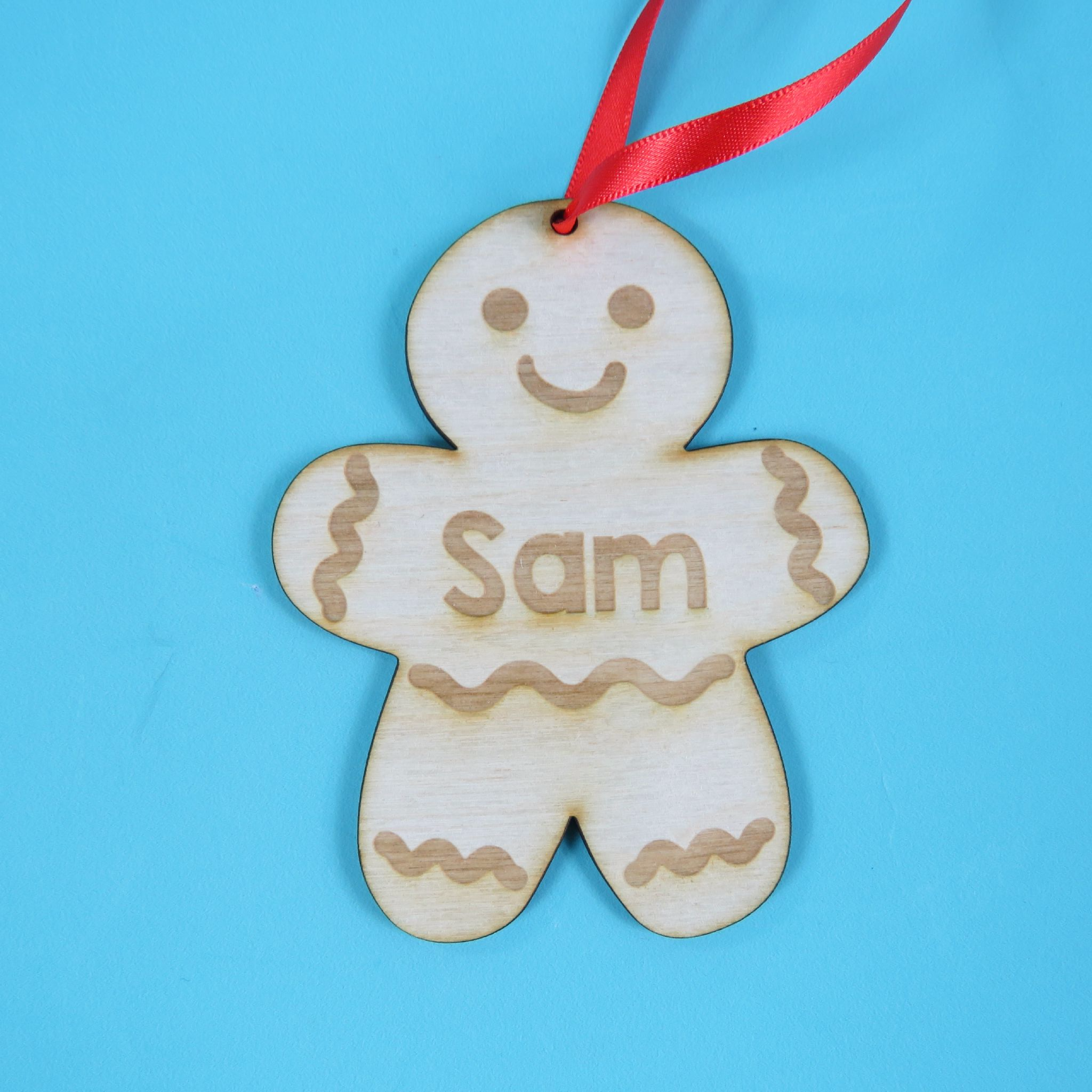 Personalised Christmas Tree Decorations Christmas Ginger